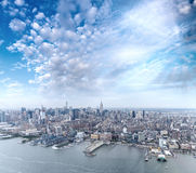 Aerial view of Midtown Buildings, Manhattan - New York City Royalty Free Stock Images