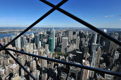 Aerial view midtown Manhattan Royalty Free Stock Images