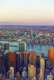 Aerial view on Midtown Manhattan and Long Island Royalty Free Stock Photo