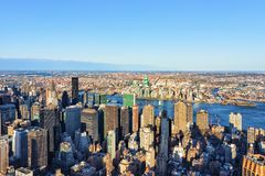 Aerial view of Midtown Manhattan and Long Island City. New York, USA royalty free stock photography
