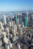 Aerial view of the Midtown (Manhattan, New York City). Royalty Free Stock Images