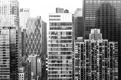 Aerial view of midtown Manhattan Royalty Free Stock Image