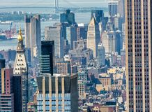 Aerial view of Midtown skyscrapers, New York City Stock Photos