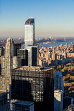 Aerial View of Midtown skyscrapers and Upper West Side, NYC Royalty Free Stock Photo