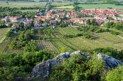 Aerial view in Mikulov Royalty Free Stock Photography