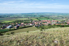 Aerial view in Mikulov Royalty Free Stock Image