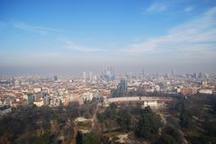 Aerial view of Milan Stock Photos