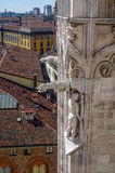Aerial view of Milan from Duomo roof terrace, Italy Stock Image