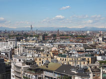 Aerial view of Milan, Italy Stock Images