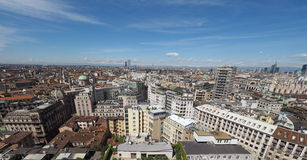 Aerial view of Milan, Italy Stock Image