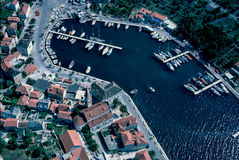 Aerial view at Milna, Brac island Royalty Free Stock Images