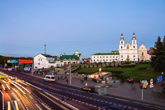 Aerial view of Minsk Cathedral in Belarus Stock Images