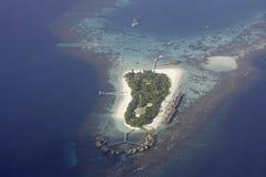 Aerial view of Mirihi, Maldives Royalty Free Stock Image