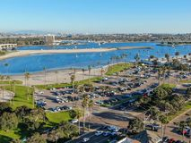 Aerial view of Mission Bay & Beaches in San Diego, California. USA. stock images