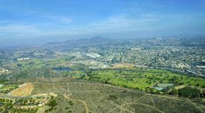Aerial view of Mission Valley, San Diego Royalty Free Stock Photography