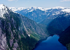 Aerial View of Misty Fjords