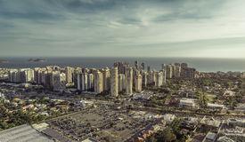 Aerial view of modern Brazilian city at sunset Royalty Free Stock Image