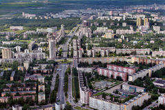 Aerial view of modern building in  city northern Europe. Stock Photo
