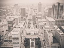 Aerial view of modern city Royalty Free Stock Photography
