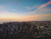 Aerial view of modern city skyline Royalty Free Stock Image