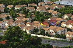 Aerial view of modern house complex, Jomtien Beach, Pattaya, Cho Stock Photos