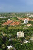 Aerial view of modern house complex, Jomtien Beach, Pattaya, Cho. Nburi province, Thailand Royalty Free Stock Photo