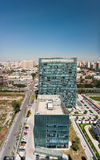 Aerial view of the modern office building. Beijing, China royalty free stock image