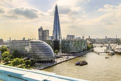 Aerial view of the modern Southwark, London Stock Photos