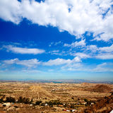 Aerial view from Mojacar Almeria village in Spain Stock Photo