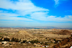 Aerial view from Mojacar Almeria village in Spain Stock Photography