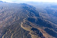 Aerial view of Mojave desert, Arizona, usa Royalty Free Stock Images