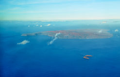 Aerial view of Molokini and Kahoolawe island Royalty Free Stock Photo