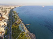 Aerial view of Molos, Limassol, Cyprus Royalty Free Stock Image