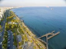Aerial view of Molos, Limassol, Cyprus Stock Photos