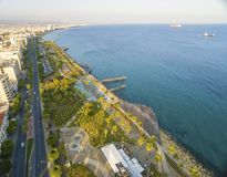 Aerial view of Molos, Limassol, Cyprus Royalty Free Stock Images