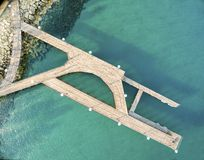 Aerial view of Molos pier, Limassol, Cyprus Stock Images