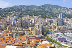 Aerial view of Monaco Stock Images