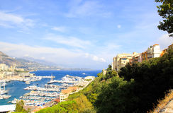 Aerial view of Monaco harbor Royalty Free Stock Images