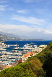 Aerial view of Monaco harbor Stock Image