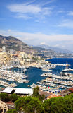 Aerial view of Monaco harbor Royalty Free Stock Photography