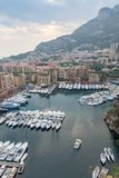 Aerial View on Monaco Harbor with Luxury Yachts Stock Photos