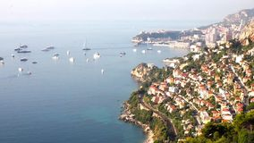 Aerial view of Monaco stock video footage