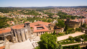 Aerial view of monastery Convent of Christ in Tomar, Portugal Stock Photo