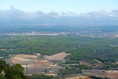 Aerial view from the monastery Santuari de Cura,. Mallorca, Spain Stock Photo