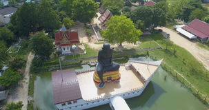 Aerial View of Monk Statue. Shot with a DJI Mavic fps24 4k stock footage