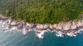 Monkey island in Vietnam stock photography