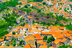 Monsanto village aerial view. Portugal Stock Photos