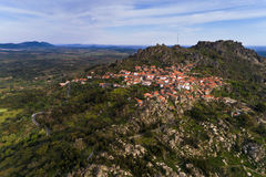 Aerial view of the Monsanto Village in Portugal Royalty Free Stock Photos