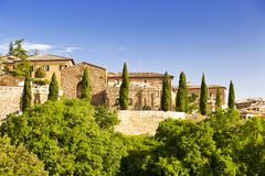 Aerial View of Montalcino Royalty Free Stock Photography