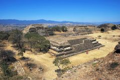 Aerial view of Monte Alban Ruins Royalty Free Stock Photo